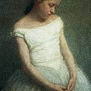 Ballerina Female Dancer Art Print by Angelo Morbelli