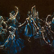 Ballerina Ghosts Art Print by Jani Freimann
