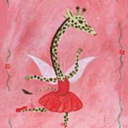 Ballerina Giraffe Girls Room Art Art Print by Kristi L Randall Brooklyn Alien Art