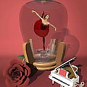 Ballerina In A Bottle - Kiko Art Print