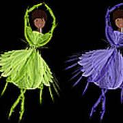 Ballerina Rainbow 2 Art Print