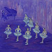 Ballerina Rehearsal Art Print