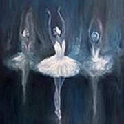 Ballerina. Swan Lake. Art Print