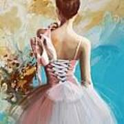 Ballerina's Back  Art Print