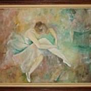 Ballet Dancers Art Print by Ri Mo