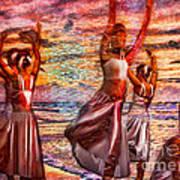 Ballet On The Beach Art Print