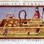 Ballista Fulminalis. Siege Machine Used Art Print