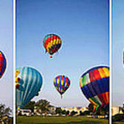 Balloon Festival Panels Art Print