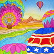 Balloon Festival Yuma Art Print