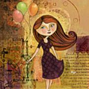 Balloon Girl Art Print