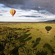 Balloon In Masai Mara National Park Art Print