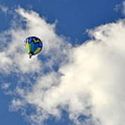Balloon In The Clouds Art Print