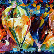 Balloon Parade - Palette Knife Oil Painting On Canvas By Leonid Afremov Art Print