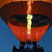 Balloon Ride At Dawn Art Print