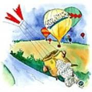 Ballooning In France Art Print