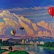 Ballooning On The Rio Grande Art Print