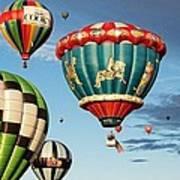 Balloons Away Art Print