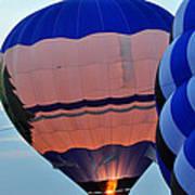 Balloons Before Sunset Art Print