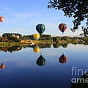 Balloons Heading East Art Print