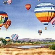 Balloons Over San Elijo Lagoon Encinitas Art Print