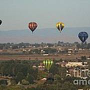 Balloons Over The Valley Art Print