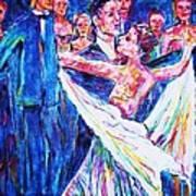 Ballroom Compitition Art Print by Linda Vaughon