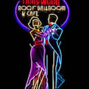 Ballroom Dancing Sign Art Print