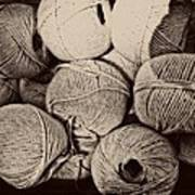 Balls Of String Art Print