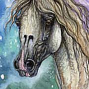 Balon Polish Arabian Horse Portrait 4 Art Print