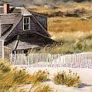 Balston Beach House Print by Karol Wyckoff