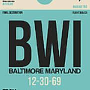 Baltimore Airport Poster 1 Art Print