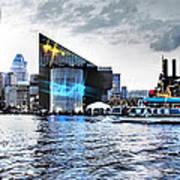 Baltimore - Harborplace - Inner Harbor At Night  Art Print