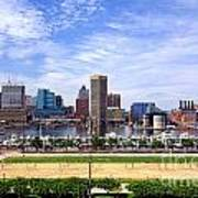 Baltimore Inner Harbor Beach Art Print by Olivier Le Queinec