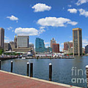 Baltimore Inner Harbor Art Print by Olivier Le Queinec