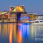 Baltimore National Aquarium At Twilight I Art Print