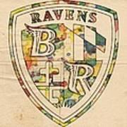 Baltimore Ravens Logo Art Art Print