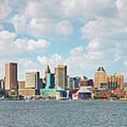 Baltimore Skyline And Inner Harbor Art Print