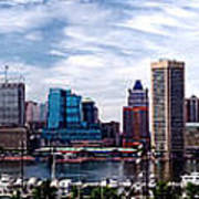 Baltimore Skyline Art Print by Olivier Le Queinec