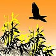 Bamboo Bird Art Print