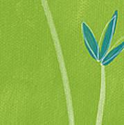 Bamboo Namaste Art Print by Linda Woods