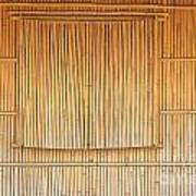 Bamboo Wall And Shutters Art Print