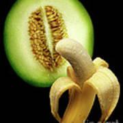 Banana And Honeydew Art Print