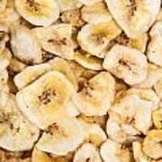 Banana Chips Background Art Print