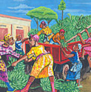 Banana Delivery In Cameroon 01 Art Print