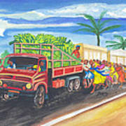 Banana Delivery In Cameroon 02 Art Print