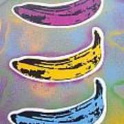 Bananas Go Pop Art Print