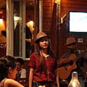 Band At Palaad Tawanron Restaurant - Chiang Mai Thailand - 01137 Art Print