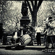 Band On Union Square New York City Print by Sabine Jacobs