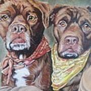 Bandana Dogs Art Print by Stephanie Dunn