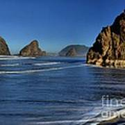 Bandon Sea Stacks In The Surf Art Print by Adam Jewell